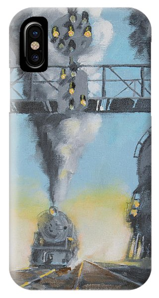 Railroad Signal iPhone Case - Morning On The Pennsylvania Railroad  by Christopher Jenkins
