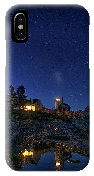 Navigation iPhone Case - Under The Stars At Pemaquid Point by Rick Berk