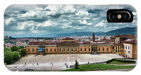 The Meridian Palace And Cityscape In Florence, Italy IPhone Case