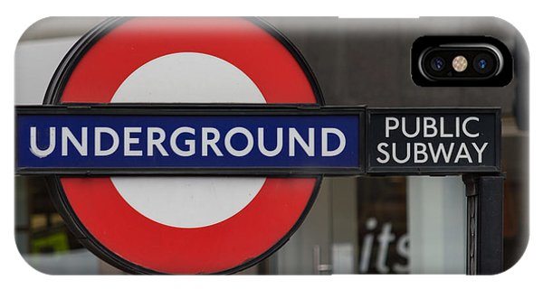 Underground Sign London IPhone Case