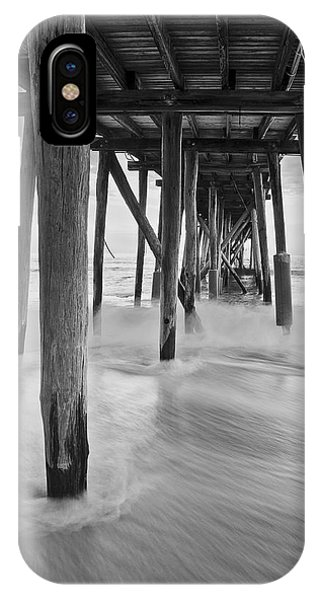 Underneath The Pier At The Jersey Shore  Bw IPhone Case