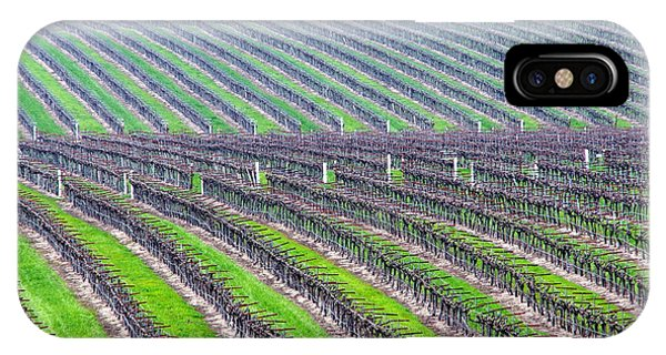 Undulating Vineyard Rows IPhone Case