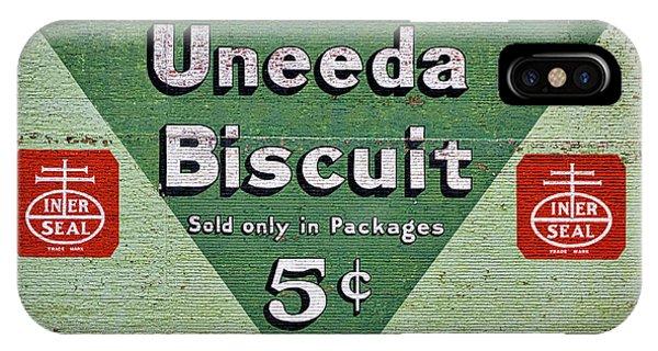 Uneeda Biscuit Vintage Sign IPhone Case