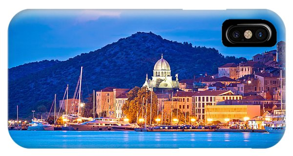 Unesco Town Of Sibenik Blue Hour View IPhone Case