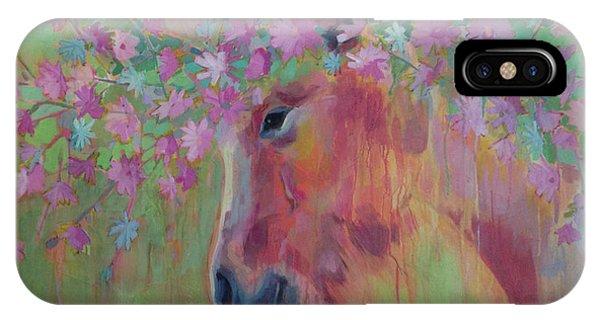 Mythological Creature iPhone Case - Uni Corn Flower II by Kimberly Santini