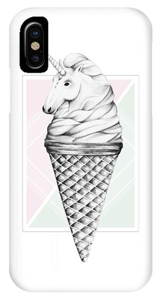 Unicorn iPhone Case - Unicone by Barlena