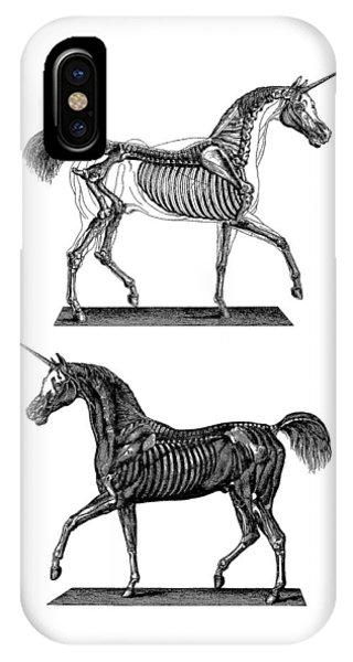 Anatomy iPhone Case - Unicorn Anatomy by Madame Memento