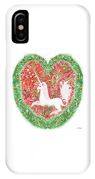 Unicorn Heart With Millefleurs IPhone Case