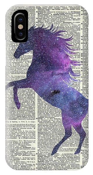 Unicorn iPhone Case - Unicorn In Space by Anna W