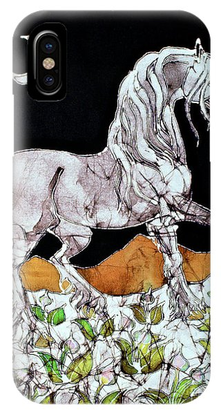 Unicorn Over Flower Field IPhone Case