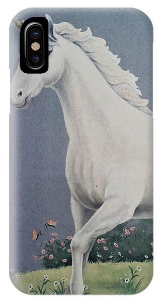 Unicorn Roaming The Grass And Flowers IPhone Case
