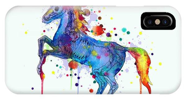 Unicorn iPhone Case - Unicorn Skeleton 2.0 by Ludwig Van Bacon