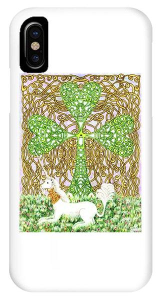 Unicorn With Shamrock IPhone Case