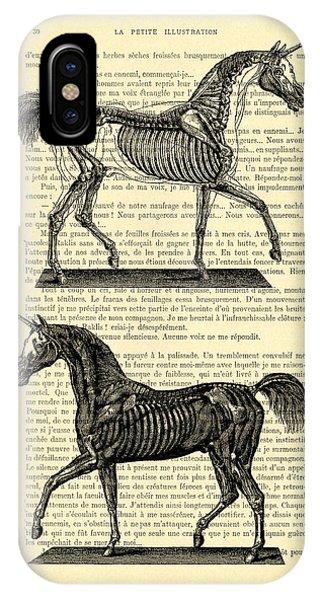 Myth iPhone Case - Unicorns Anatomy by Madame Memento