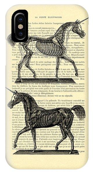 Mythological Creature iPhone Case - Unicorns Anatomy by Madame Memento