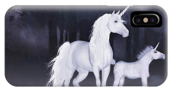 Unicorns In The Mist IPhone Case