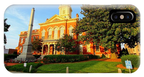 Union County Court House 10 IPhone Case
