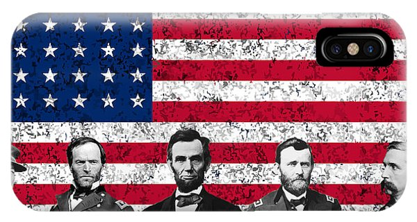Leader iPhone Case - Union Heroes And The American Flag by War Is Hell Store