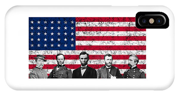 Union Heroes And The American Flag IPhone Case