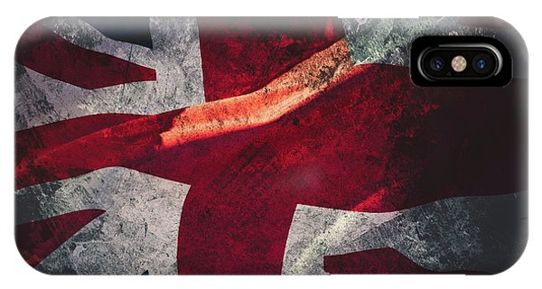 Union Jack Fine Art, Abstract Vision Of Great Britain Flag IPhone Case