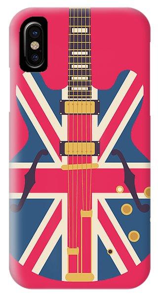 Jack iPhone Case - Union Jack Guitar - Original Red by Ivan Krpan