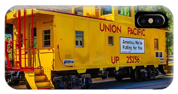 Red Caboose iPhone Case - Union Pacific Caboose by Garry Gay