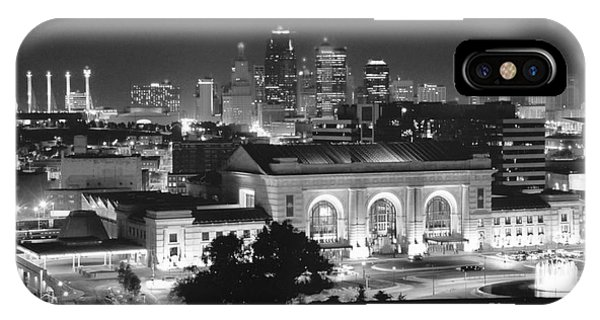 Union Station In Black And White IPhone Case