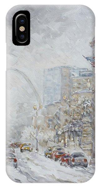 Union Station, St.louis - Winter Storm IPhone Case