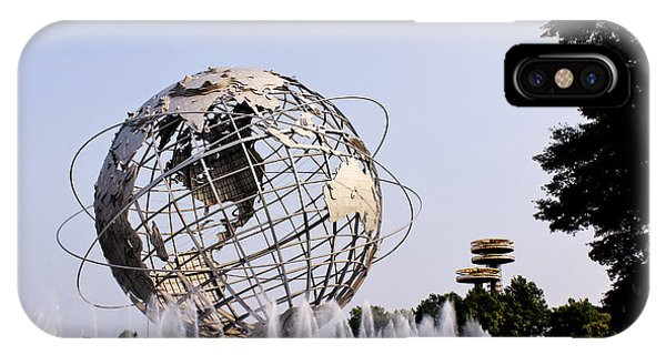 Unisphere Fountain IPhone Case