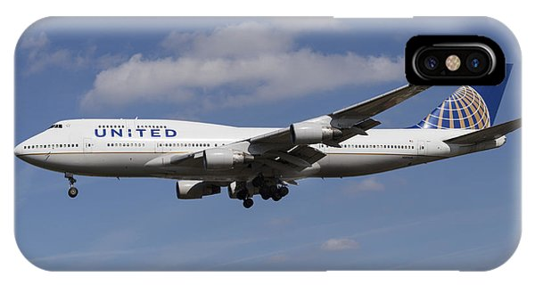 United Airlines Boeing 747 IPhone Case