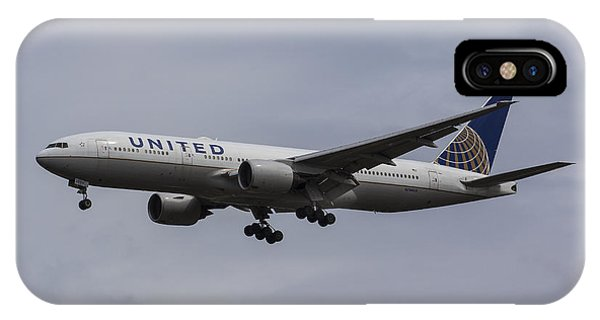 United Airlines Boeing 777 IPhone Case