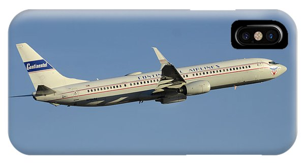 United Boeing 737-924 N75436 Retro Continental Phoenix Sky Harbor December 9 2015 IPhone Case