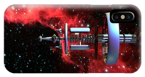 United Earth Space Federation Star Ship Hawkins 2 IPhone Case