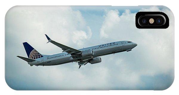 United Jet N61887 Departure Hartsfield-jackson Atlanta International Airport Art IPhone Case