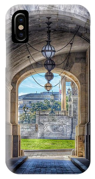 Capitol Building iPhone Case - United States Capitol - Archway by Marianna Mills