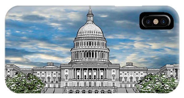 Capitol Building iPhone Case - United States Capitol Building by Doug LaRue