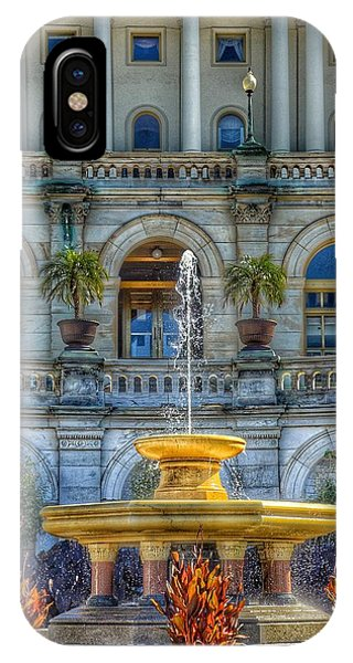 Capitol Building iPhone Case - United States Capitol Building - Water Fountain  by Marianna Mills