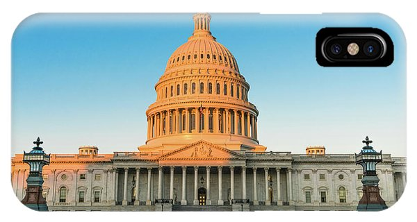 Lincoln Memorial iPhone Case - United States Capitol  by Larry Marshall