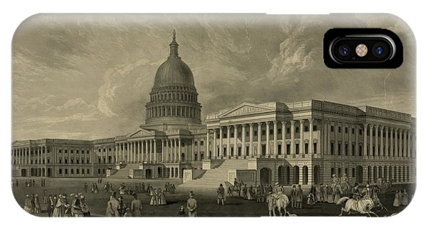 Capitol iPhone Case - United States Capitol, Washington by 19th Century