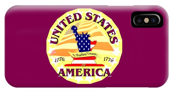 Sports Clothing iPhone Case - United States Of America Design by Peter Potter