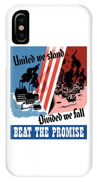 Factory iPhone Case - United We Stand Divided We Fall by War Is Hell Store