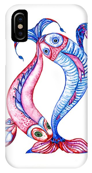 Unity Of Opposites. Perfect Couple IPhone Case