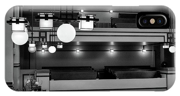Unity Temple Interior Black And White IPhone Case