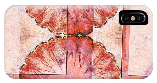 Atomic Tangerine iPhone Case - Universitize Undraped Flowers  Id 16165-164039-61631 by S Lurk
