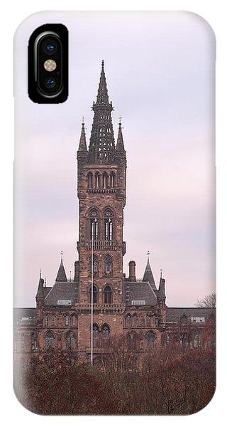 University Of Glasgow At Sunrise IPhone Case