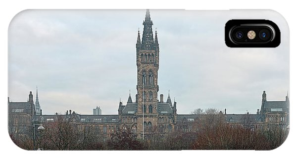 University Of Glasgow At Sunrise - Panorama IPhone Case