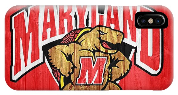 University Of Maryland Barn Door IPhone Case