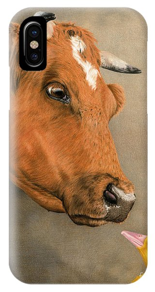 Barnyard iPhone Case -  Friends Come In All Sizes by Sarah Batalka