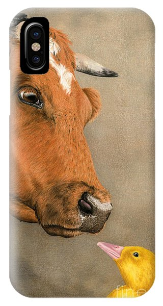 Barnyard Animals iPhone Case -  Friends Come In All Sizes by Sarah Batalka