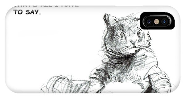 Unpredictable Cat IPhone Case